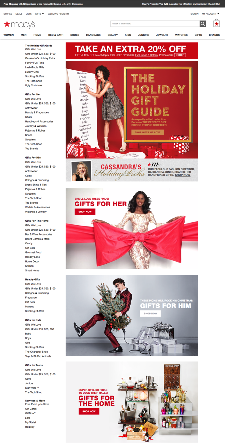 Macys Holiday Gift Guide