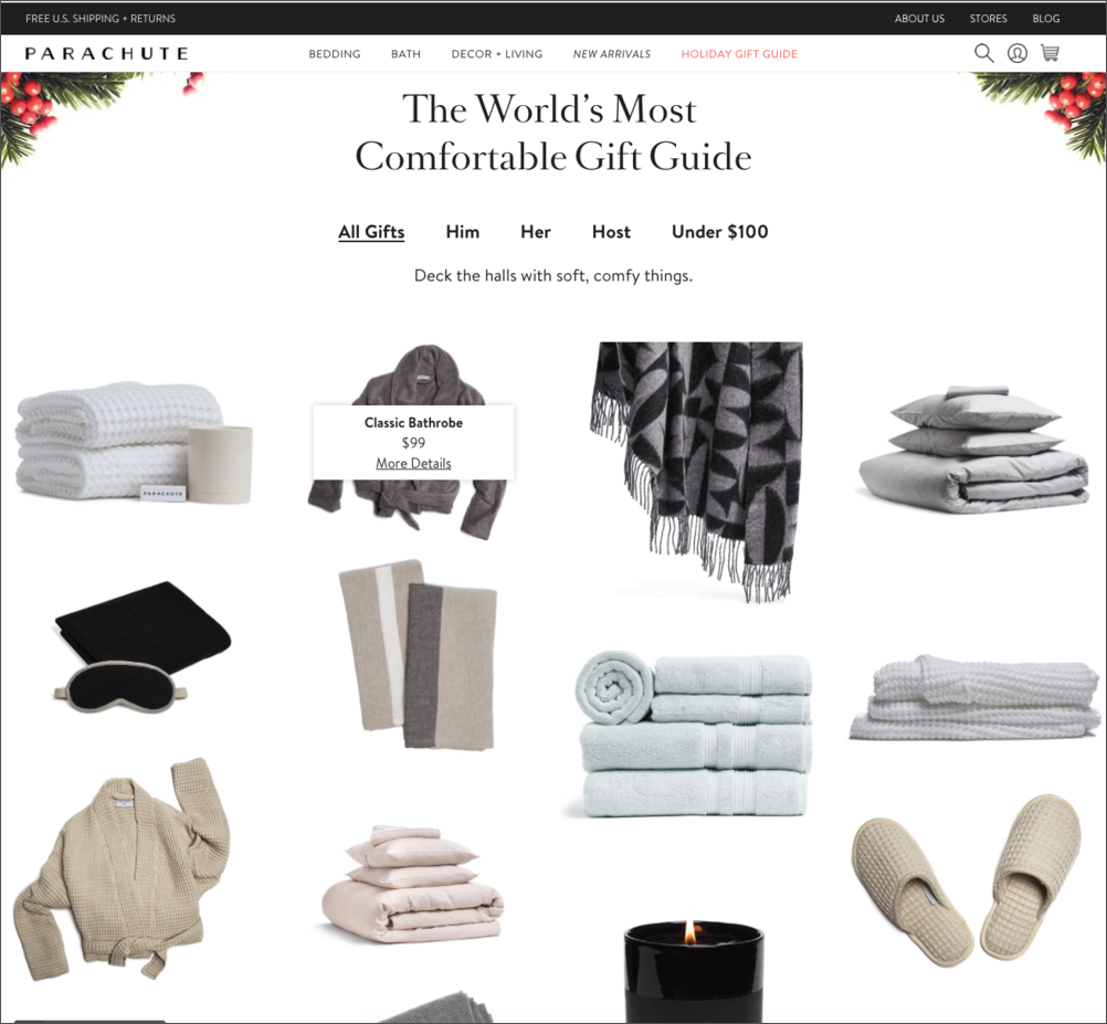 Parachute Holiday Gift Guide
