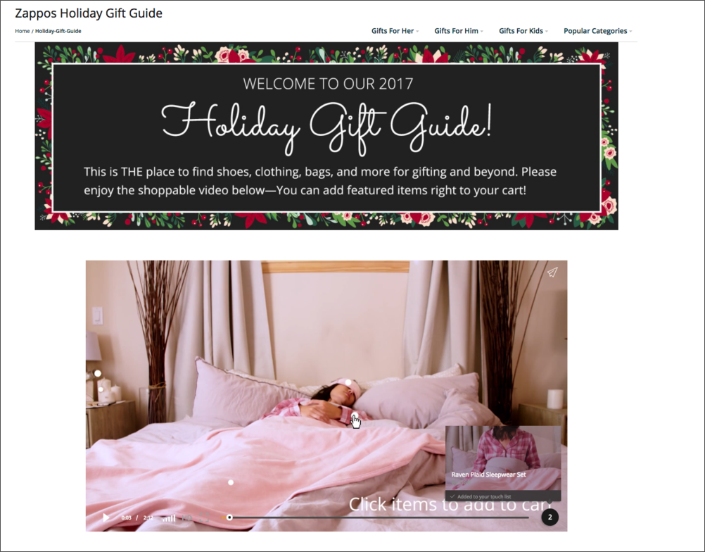 Zappos Gift Guide